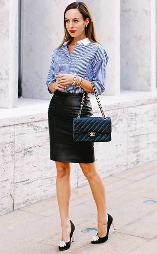 Business Casual Leather Outfits