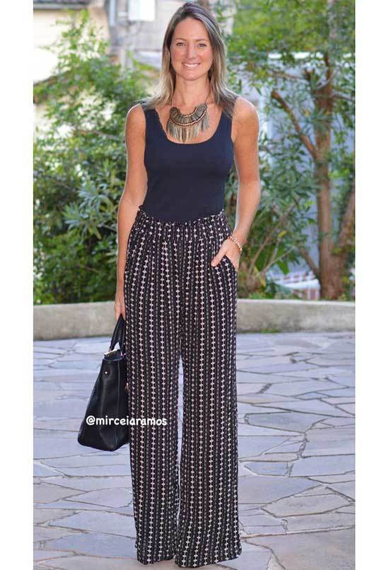 Chic High Waisted Wide Leg Trousers Outfits