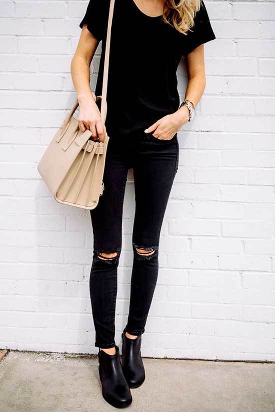 Black Jeans T-Shirt Outfits