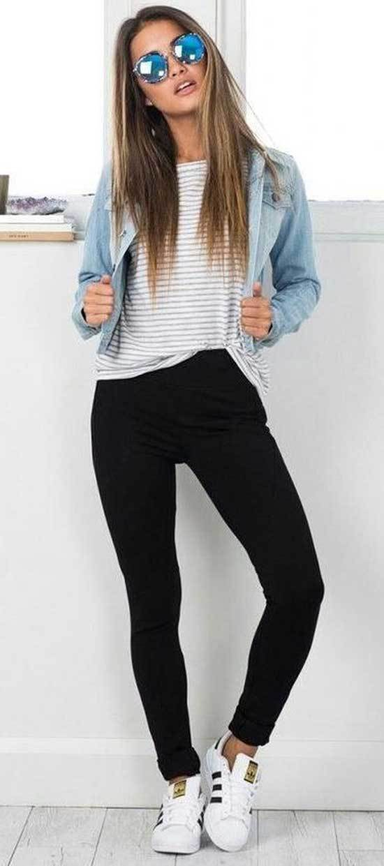 Black Jeans Autumn Outfits