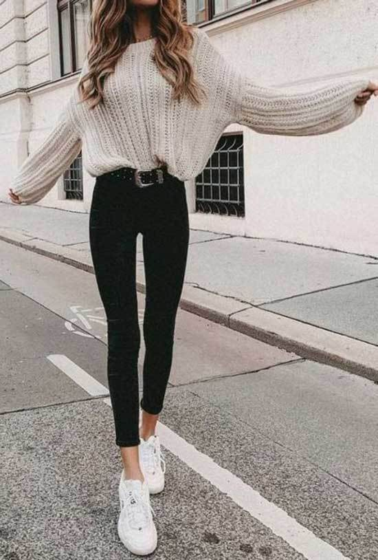 Black Jeans Spring Outfits