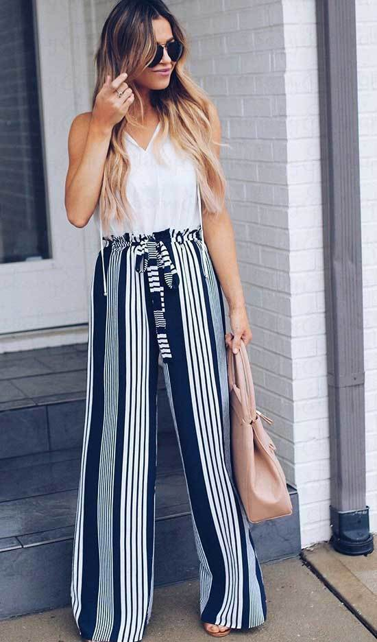 High Waisted Flare Pants Outfits