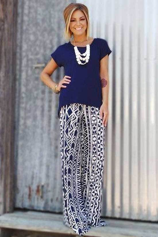 High Waisted Palazzo Pants Outfits