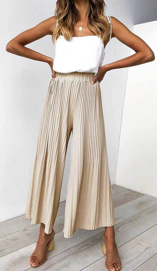 High Waisted Wide Leg Pants Outfits