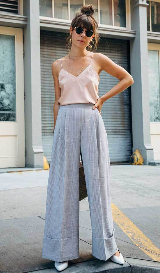 Best High Waisted Wide Leg Trousers Outfits