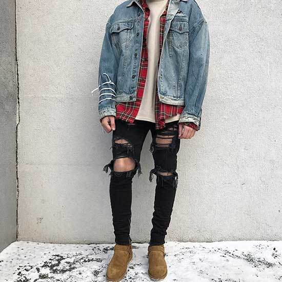 Swag Jean Outfits for Guys