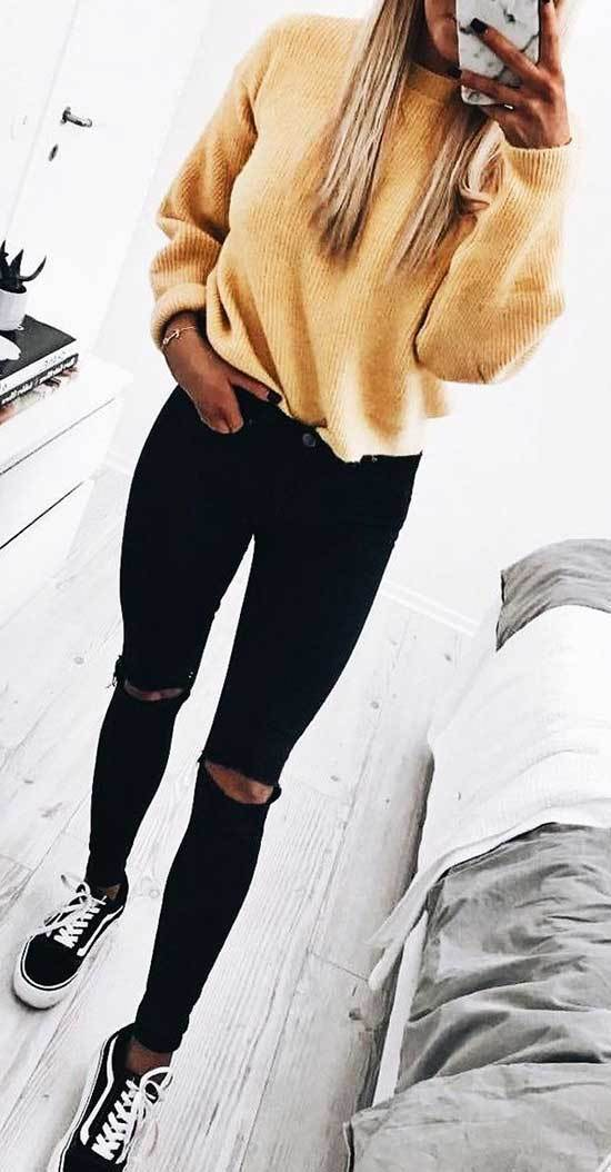 Trendy Black Jeans Outfits