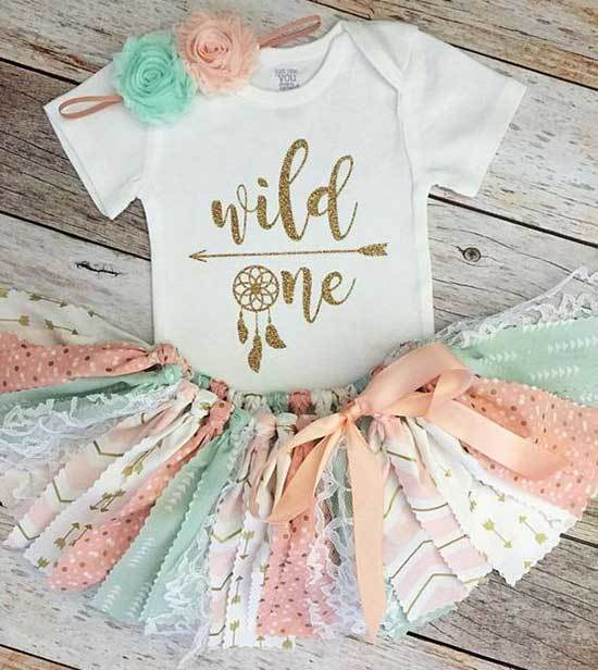 Blue First Birthday Outfits