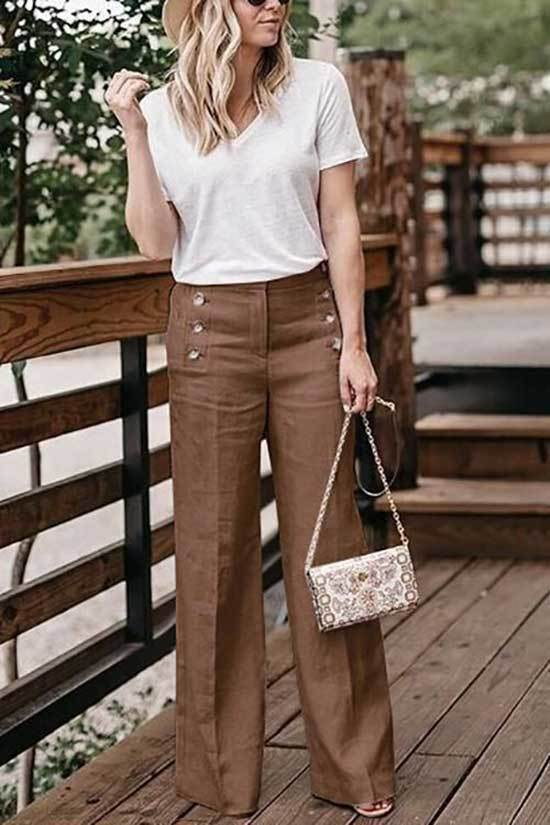 High Waisted Wide Leg Trousers Outfits 2019
