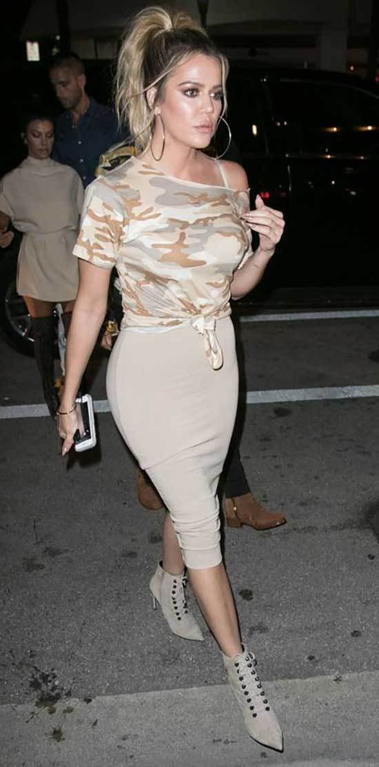 Khloe Kardashian Party Outfits