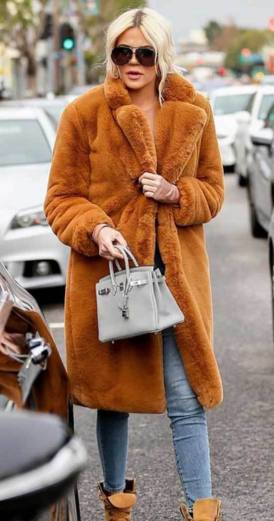 Khloe Kardashian Coat Outfits