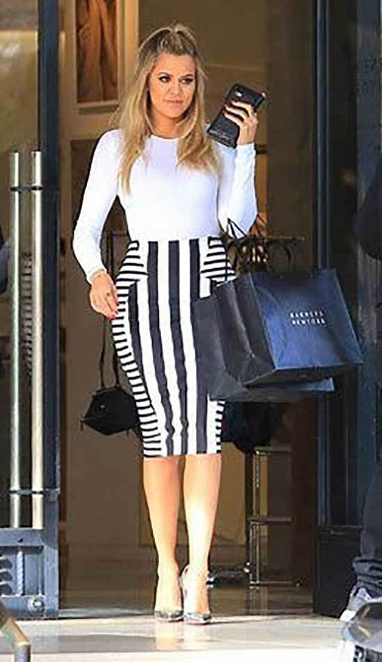 Khloe Kardashian Skirt Outfits