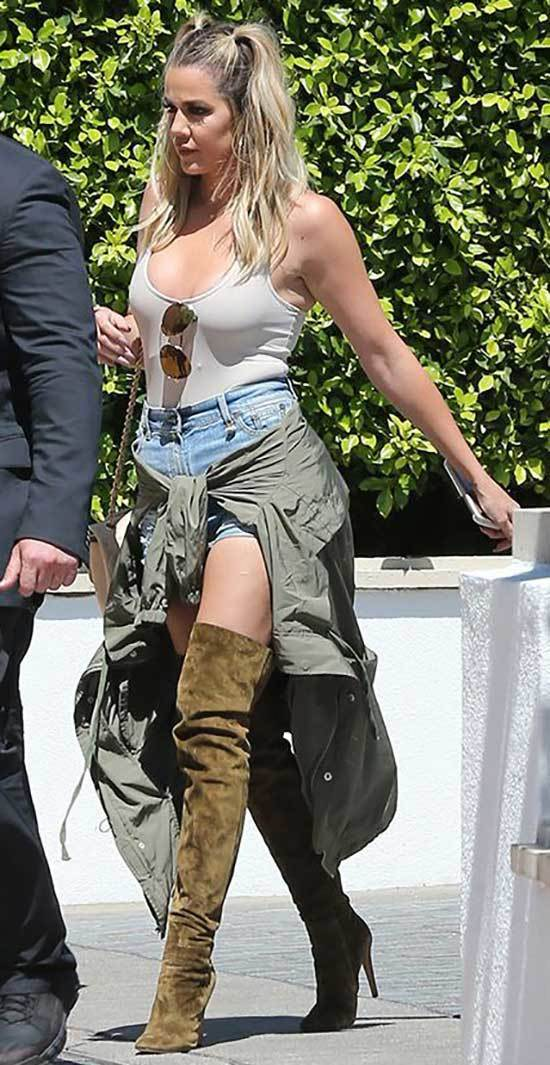 Khloe Kardashian Boots Outfits