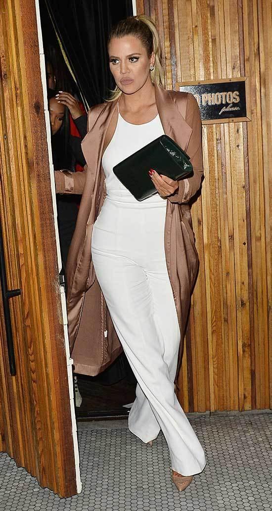 White Khloe Kardashian Outfits