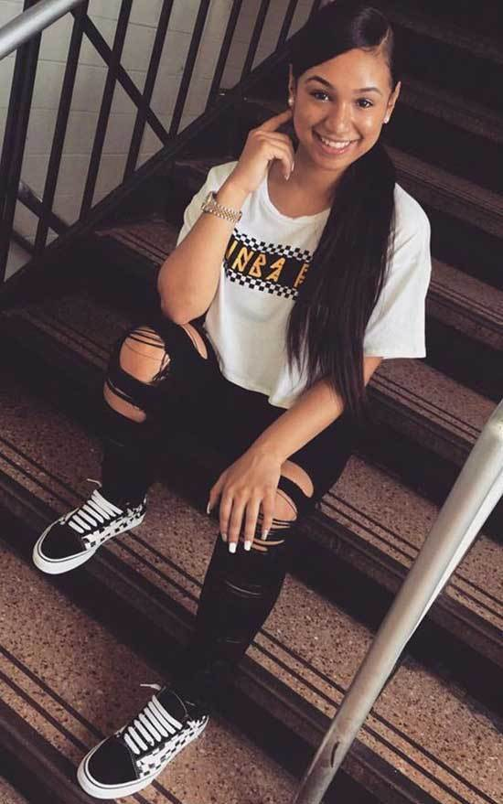 T-Shirt Outfits with Sneakers