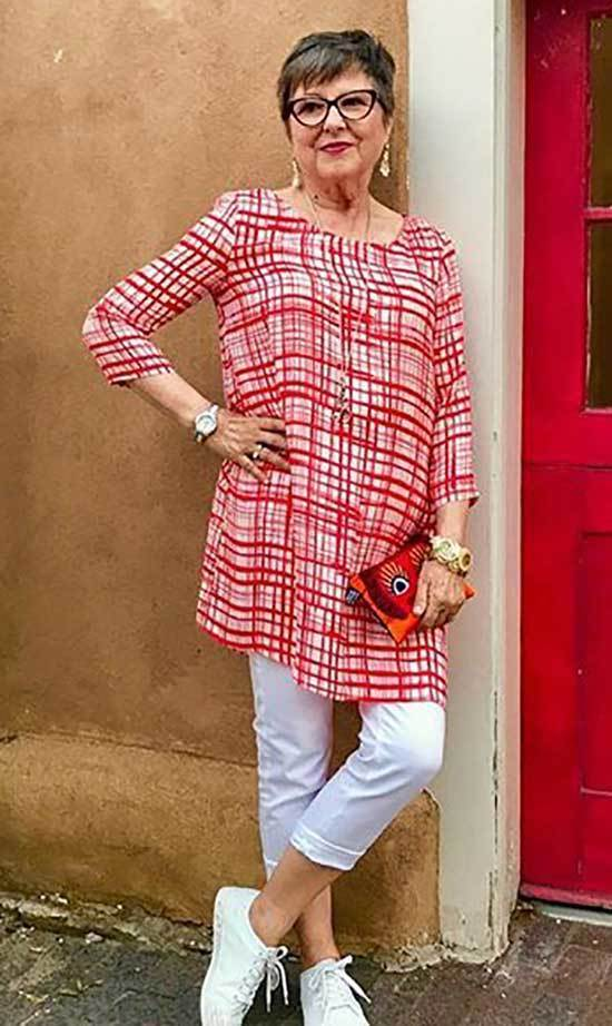 Plaid Outfits for Women Over 50
