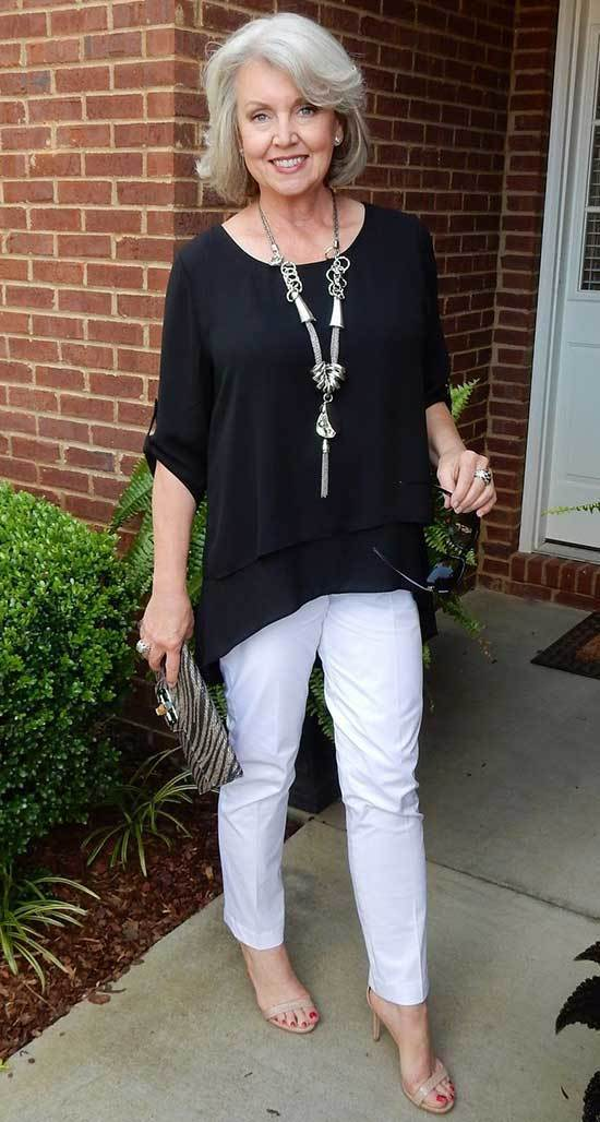 White Outfits for Women Over 50