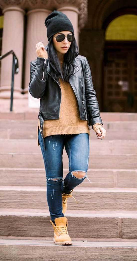 Timberland Outfits for Women-27