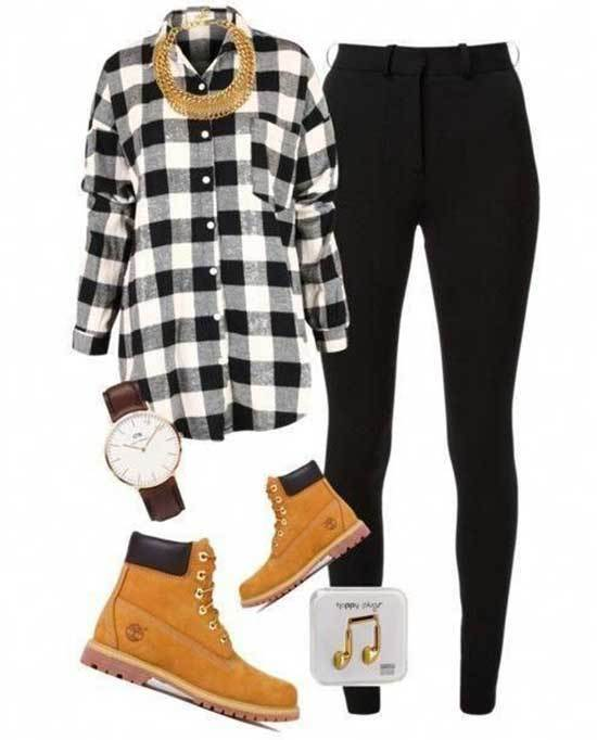 Timberland Outfits for Women-37