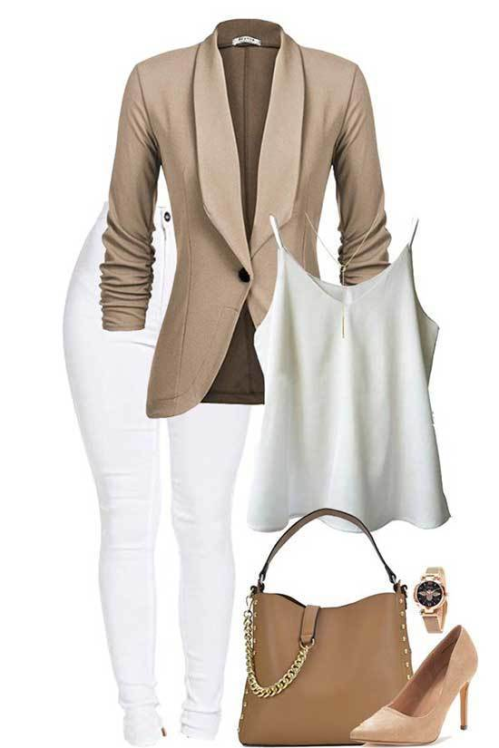 Autumn Work Blazer Outfits