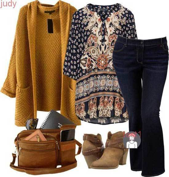 Boho Plus Size Fall Outfits