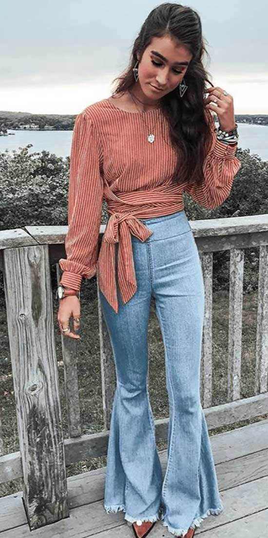 High Waisted Bootcut Pants Outfits