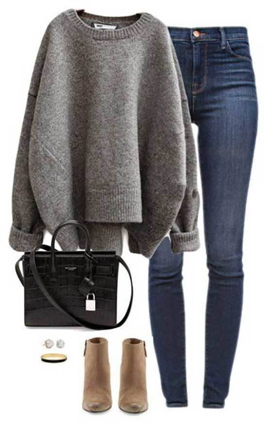 High Waisted Pants Outfits for Winter