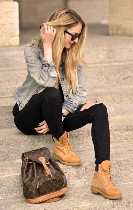 Timberland Denim Outfits for Women