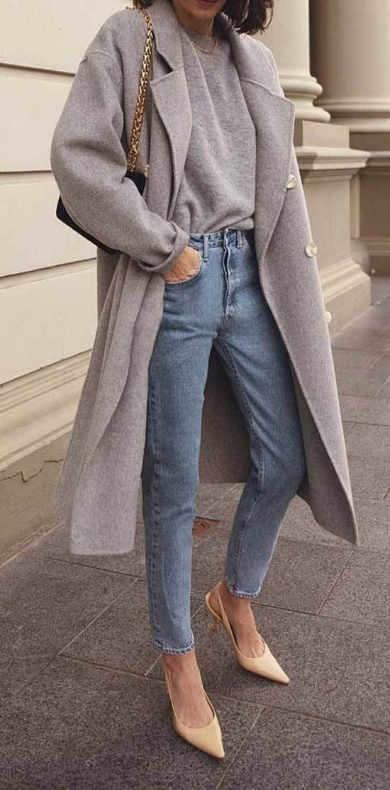 Autumn Work Jeans Outfits