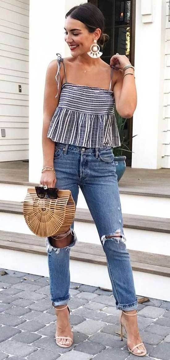 High Waisted Jeans Outfits