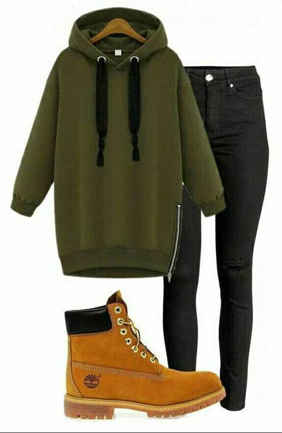 Black Timberland Outfits for Women