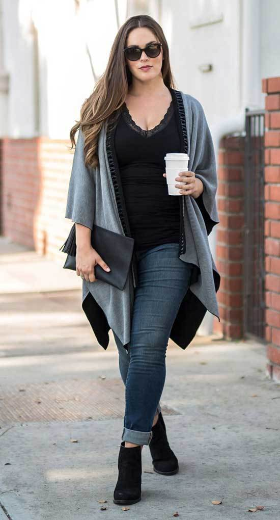Plus Size Fall Jeans Outfits