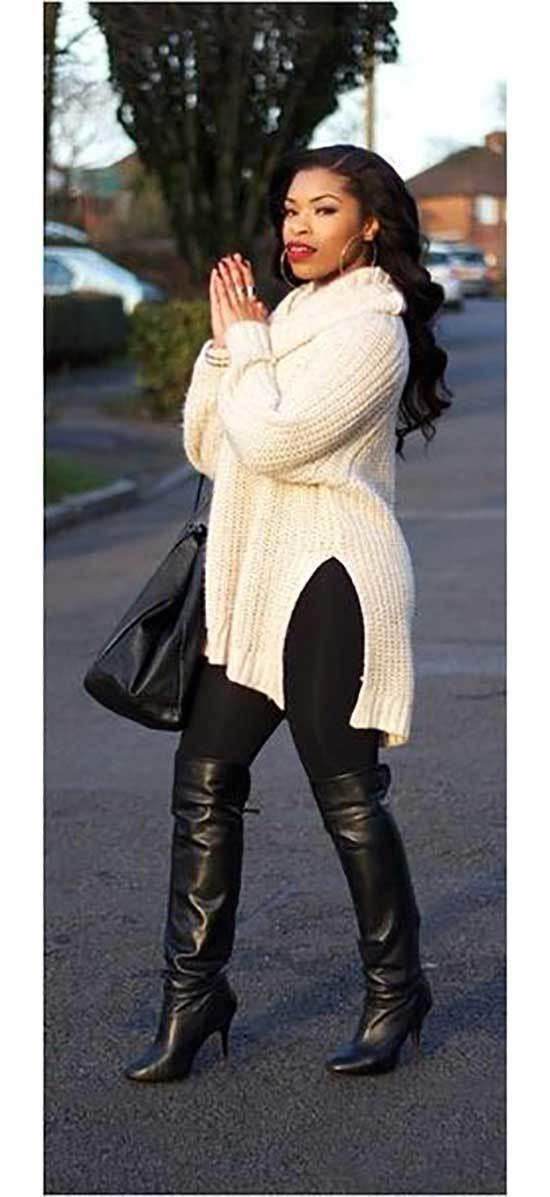 Plus Size Fall Outfits for Cold Weather