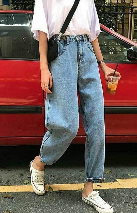 Retro High Waisted Pants Outfits