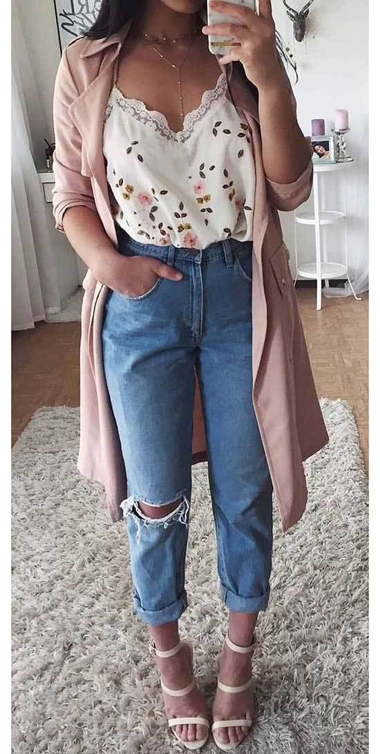 Simple High Waisted Pants Outfits for Spring