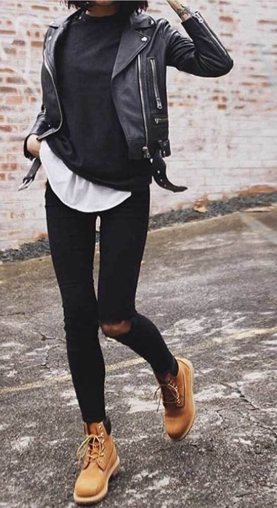 Street Style Timberland Outfits for Women