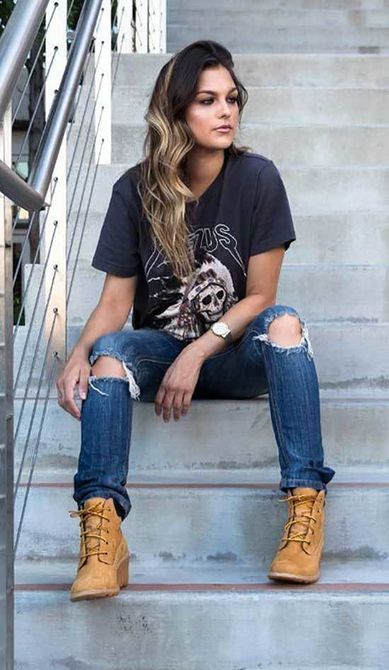 Streetwear Timberland Outfits for Women