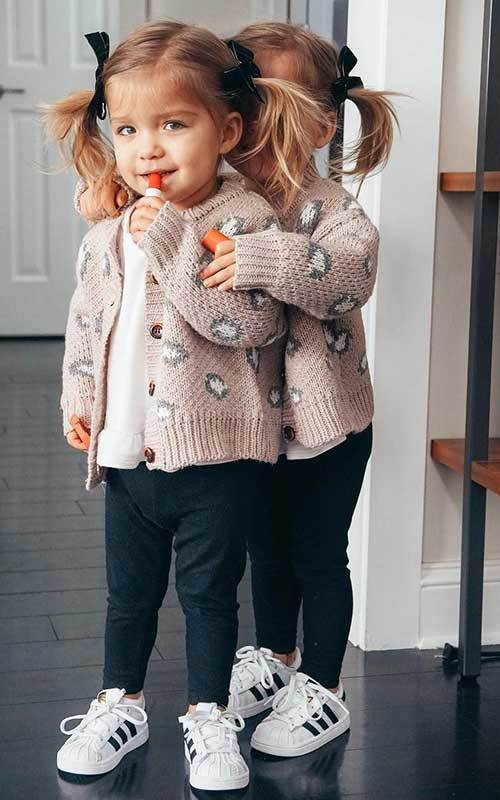 Twin Sneakers Outfit Ideas