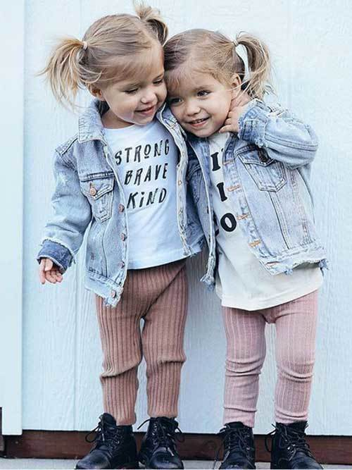 Twin Denim Outfit Ideas