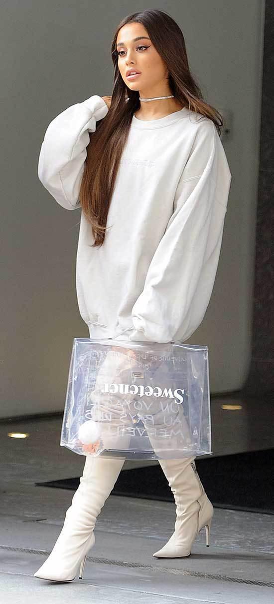 Ariana Grande Hoodie Outfits 2019