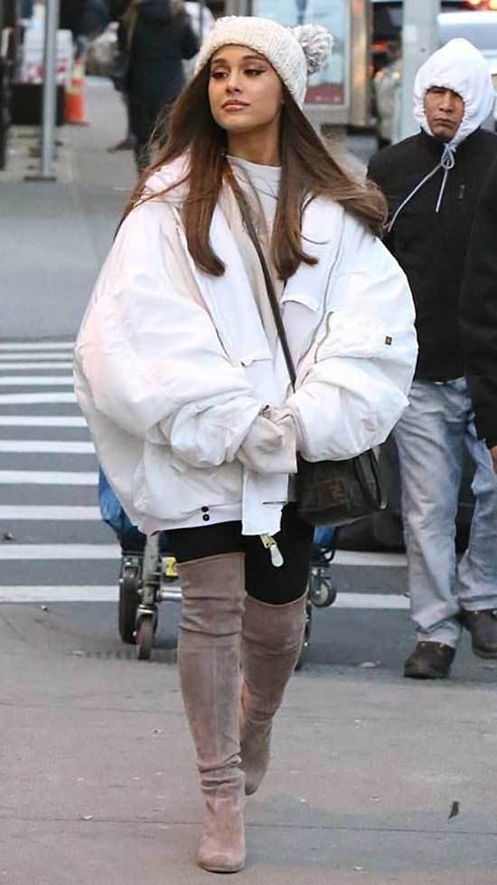Ariana Grande Winter Outfits 2019