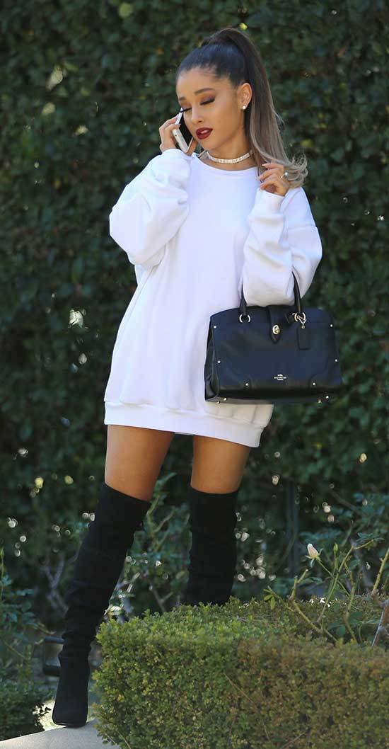 Ariana Grande Sweater Outfits 2019