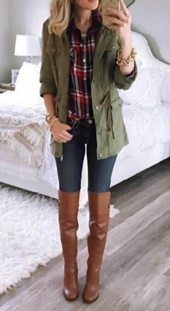 Jeans and Over The Knee Boots Outfits