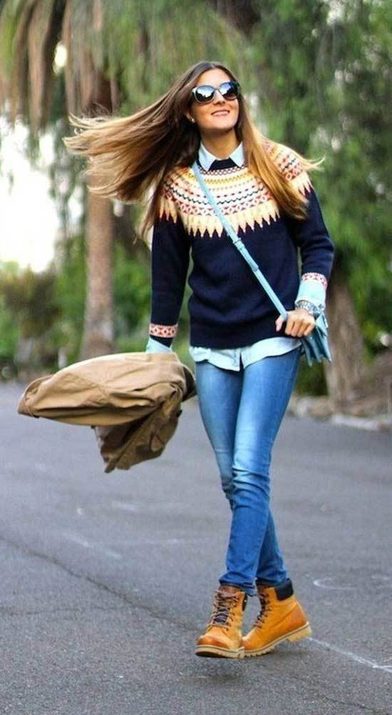 Jeans and Timberland Boots Outfits
