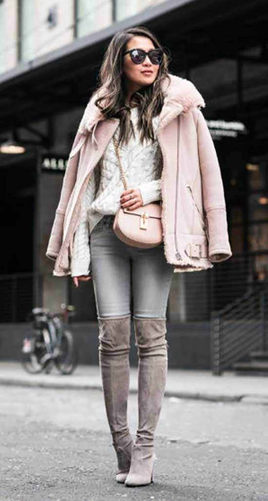 Street Style Jeans and Boots Outfits