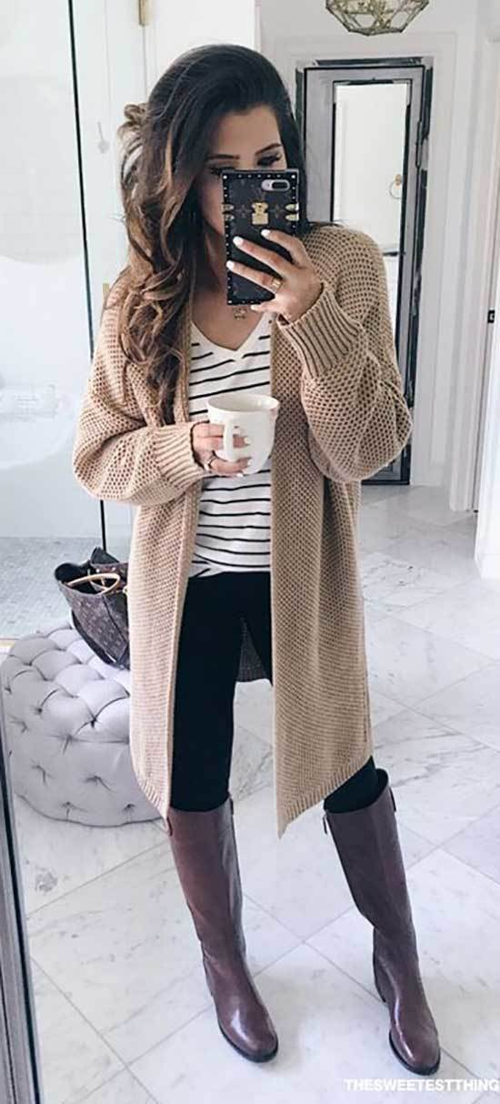 Thanksgiving Cardigan Outfits for Women-