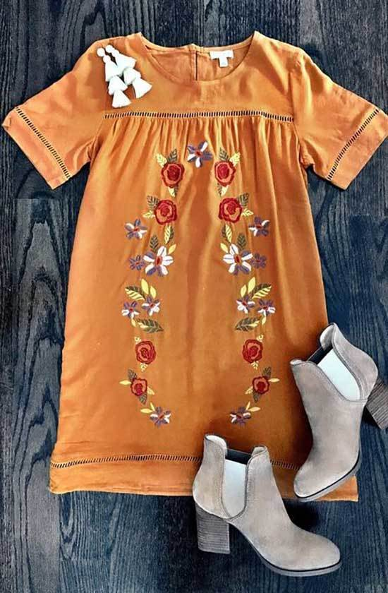 Orange Thanksgiving Outfits for Women