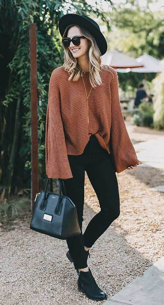 Orange Winter Outfit Ideas