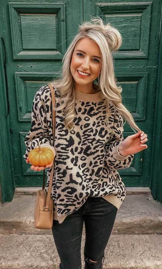 Winter Leopard Print Outfit Ideas