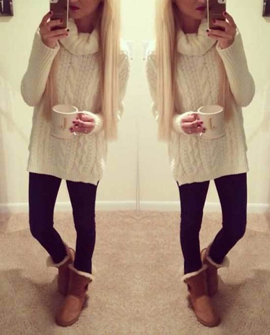 Cute Winter Outfits with Uggs-32